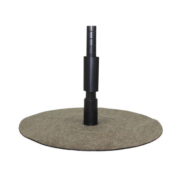Breuer Primo Einfassung | Bitumen besandet | Ø innen 20 mm Ø außen 26 mm | inkl Schrumpfschlauch