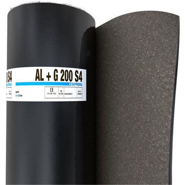 SOPREMA AL + G200 S4 Sand/Folie | Abm.: 5 m x 1,0 m (5 m²/Rolle) | 30 Rollen/Palette