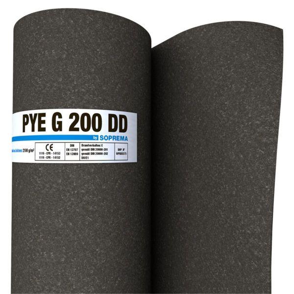SOPREMA PYE G200 DD Sand/Sand | Abm.: 10 m x 1,0 m (10 m²/Rolle) | 24 Rollen/Palette