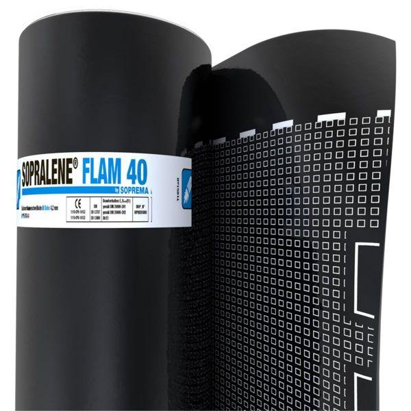SOPRALENE FLAM 40 Folie/Folie | Abm.: 7,5 m x 1,0 m (7,5 m²/Rolle) | 20 Rollen/Palette