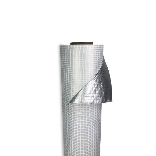 diffutec® Alu-Verbundgelege-Dampfsperre | selbstklebend - brandlastreduziert | Abm.: 50 m x 1,50 m