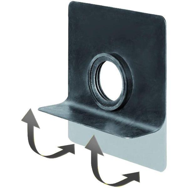 SitaMore Rundrohr-Dampfsperrplatte flex | EPDM mit Klebeflansch