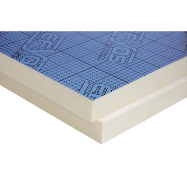 EFYOS BLUE A - PIR WLS 023 DAA ds | 150 kPa | Abm.: 1.200 x 600 mm | Kaschierung: beidseitig Alumini